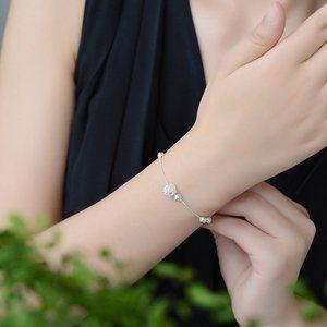 NEW 925 Sterling Silver Simple Bead Bracelet